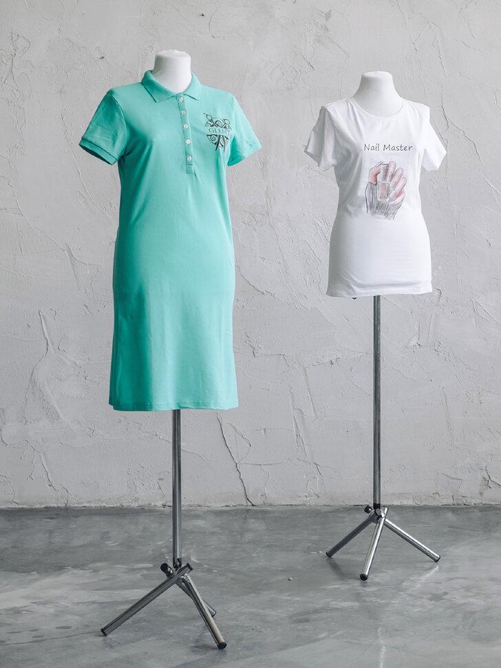 Платье Поло с логотипом с двух сторон