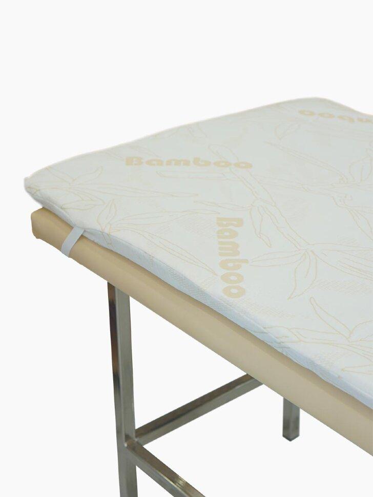 Поролон в наматраснике повышенной упругости 4-5 см.
